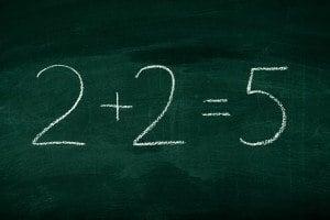 Mistake in math formula