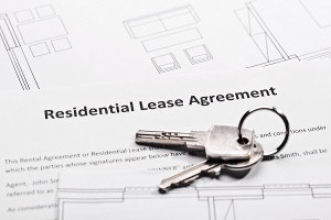 Residential lease agreement and a bunch of keys