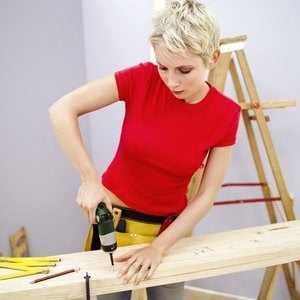 Woman renovating